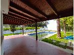 Luxury villa for rent in Malabata. Dimension 180 m². Furnished.