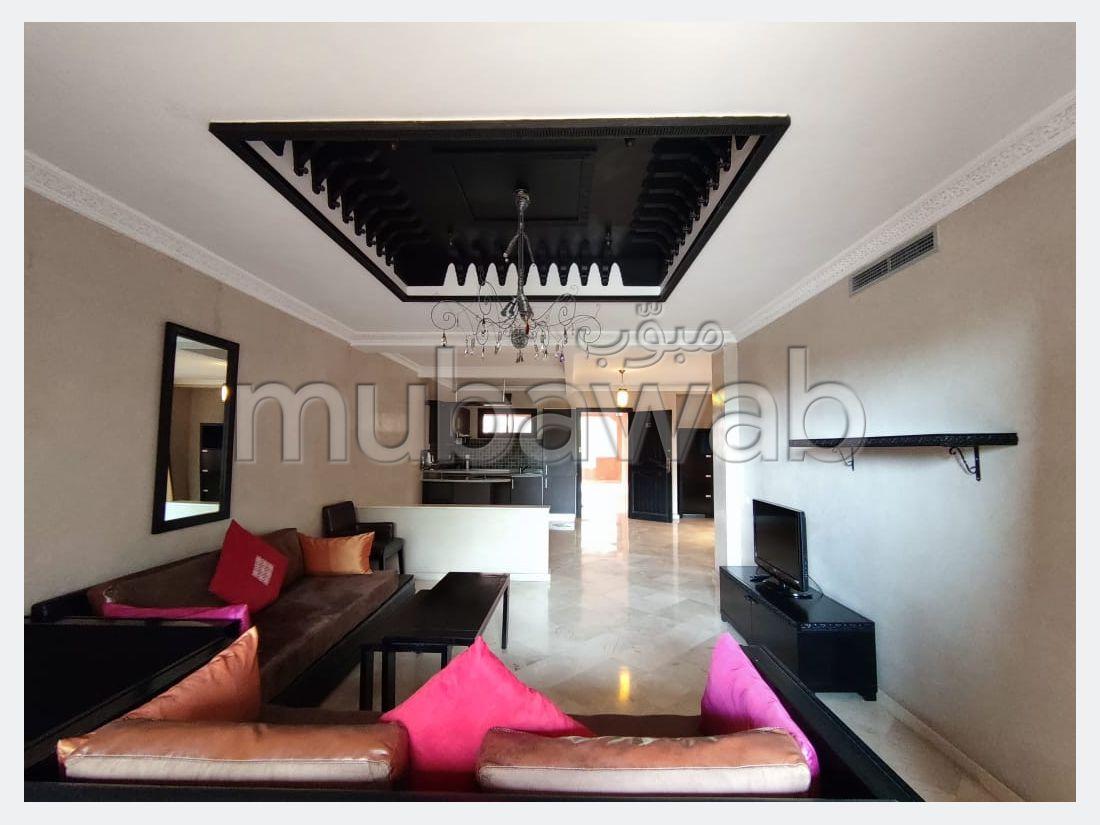 استئجار شقة بالنخيل. المساحة الإجمالية 120 م². مفروشة.