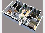 شقة جميلة للبيع بمرجان. المساحة الكلية 89 م². موقف للسيارات وحديقة