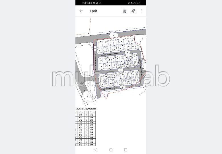 Terreno en venta en Route Nationale Assilah (N1). Pequeña superficie 78 m².
