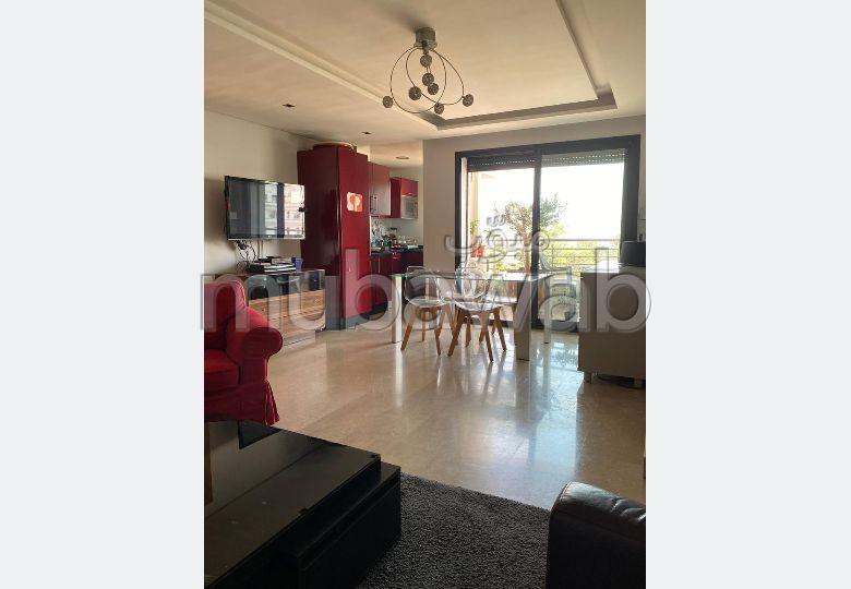 شقة للكراء بغوثي. المساحة الكلية 76 م². مفروشة.