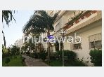 Very nice apartment for rent in Marjane. Total area 105 m². Beautiful terrace and garden.