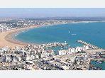 Bel appartement de 124m² meublé avec terrasse à la Marina Beach Agadir