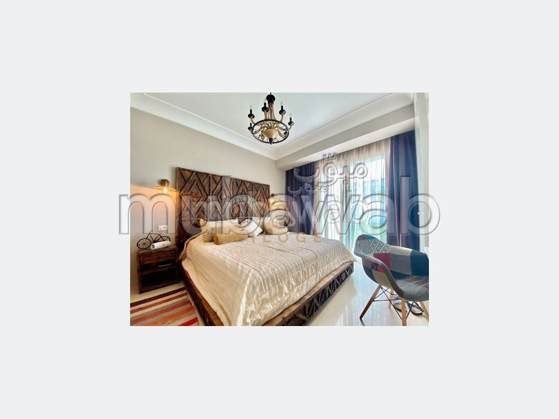 Apartment to purchase in Casablanca Finance City. 1 room. Double glazed window, Central air conditioning.