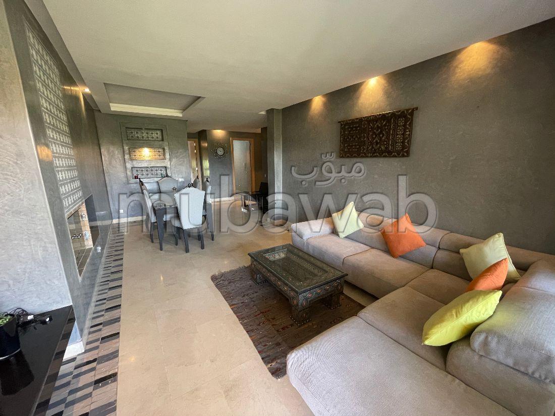 شقة للكراء بأكدال. المساحة الكلية 115 م². مفروشة.
