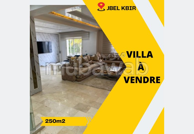 High quality house for sale in Jbel Kbir. 4 rooms. Garden and garage.
