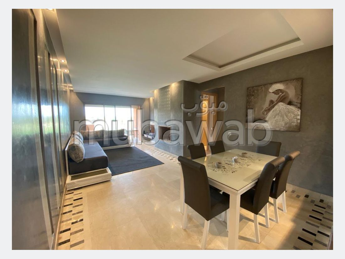Encuentra un piso en alquiler en Agdal. 2 Dormitorio. Bien amueblado.