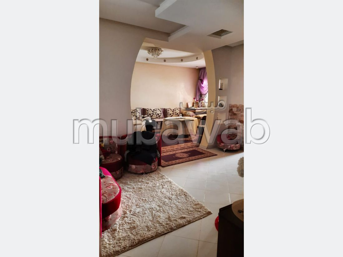 Fabulous apartment for sale in Sala el Jadida. 4 living areas. Private garden.