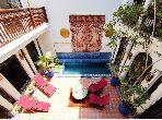 Maravilloso riad en venta en Kennaria. 6 Sala de estar. Chimenea, piscina.