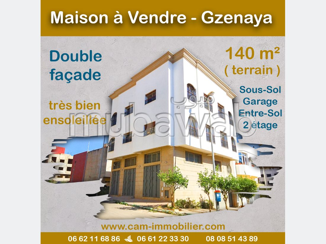House for sale in Route Nationale Assilah (N1). 6 rooms. Robust door, General satellite dish system.