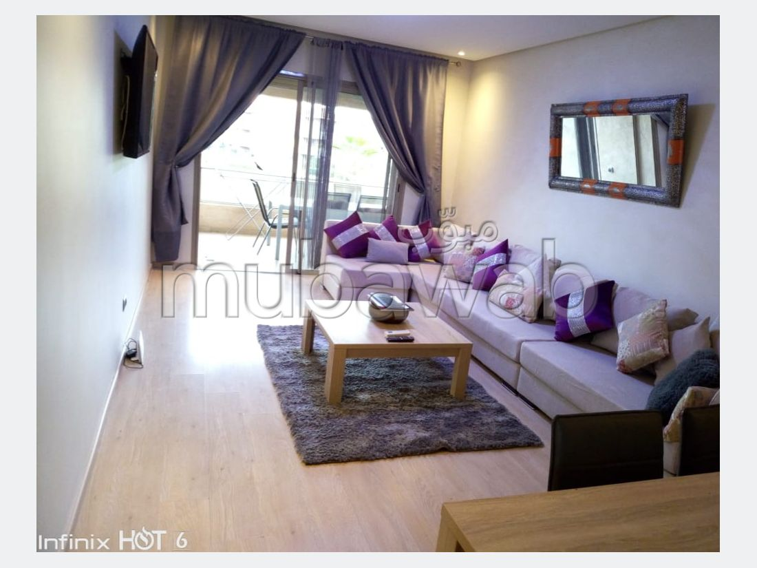 Apartment for rent in Agdal. Small area 98 m². Terrace and garden.