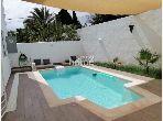 S+2 meublé de 100 m²avec piscine à Hammamet centre