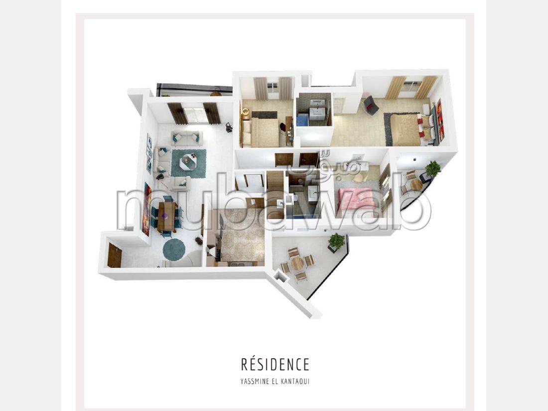 شقة للشراء ب القنطاوي. المساحة 204 م². منظر بحري استثنائي ، تدفئة مركزية.
