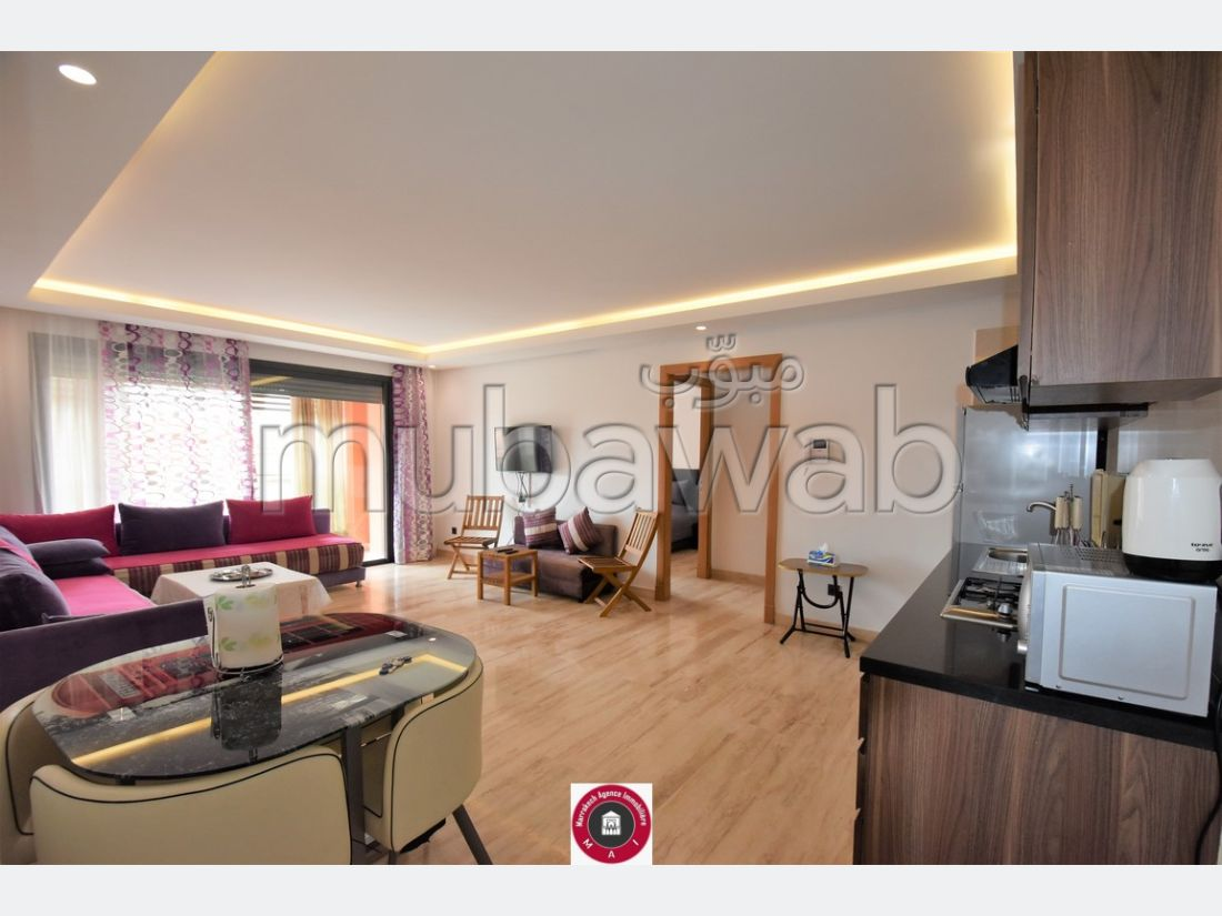 Lovely apartment for rent in Hivernage. 2 living areas. Fully furnished.