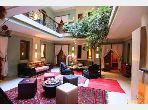 Maravilloso riad en venta en Riad Zitoun. 16 Estudio. Jardín y terraza.