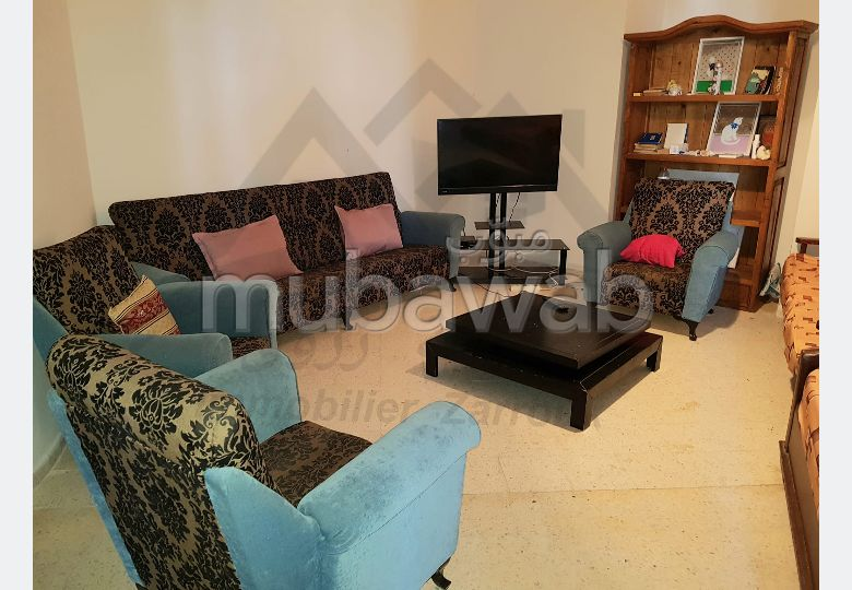 Apartments for rent in Bizerte Le Corniche. 3 beautiful rooms. Double glazed windows and reinforced door.