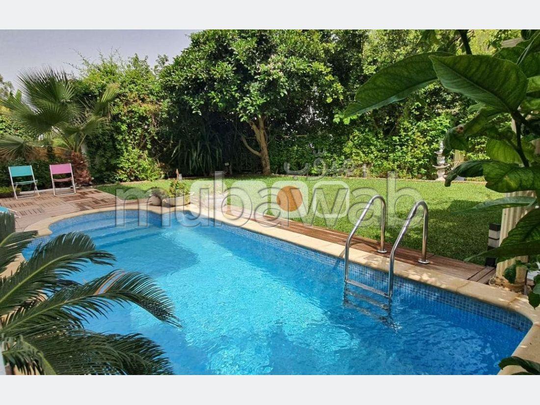 A Louer Duplex S3 Meublé avec piscine à Gammarth