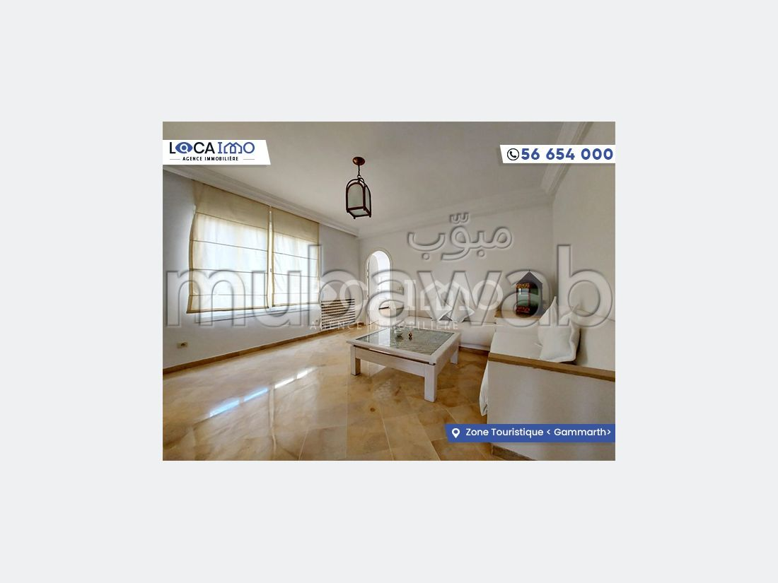 Duplex S3 meublé zone touristique Gammarth
