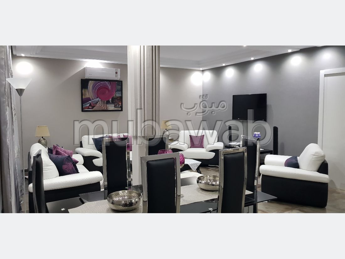 Apartment for rent in La Marsa. Dimension 100 m². Storage unit.