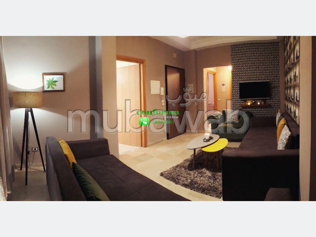 Très bel appartement en location à Cité Ennasr 1. Surface totale 75 m². Meublé.