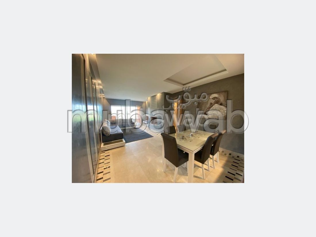 Vente d'un bel appartement à Agdal. 2 chambres. Service de concierge et climatisation