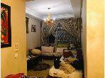 Piso en venta en Hay Chmaou. 3 habitaciones confortables. Salón marroquí amueblado, sistema de parábola general.