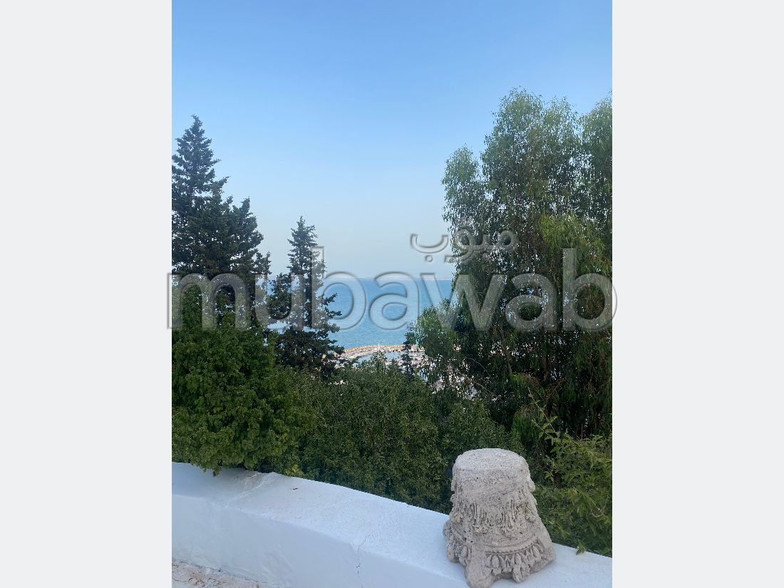 Rent this apartment in Sidi Bousaid. Large area 250 m². Furnishings.