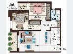 Appartement S2 balconnet de 98m² à AFH Mrezga
