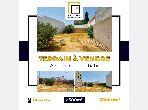 Terrain clôturé avec permis de bâtir à Kharouba