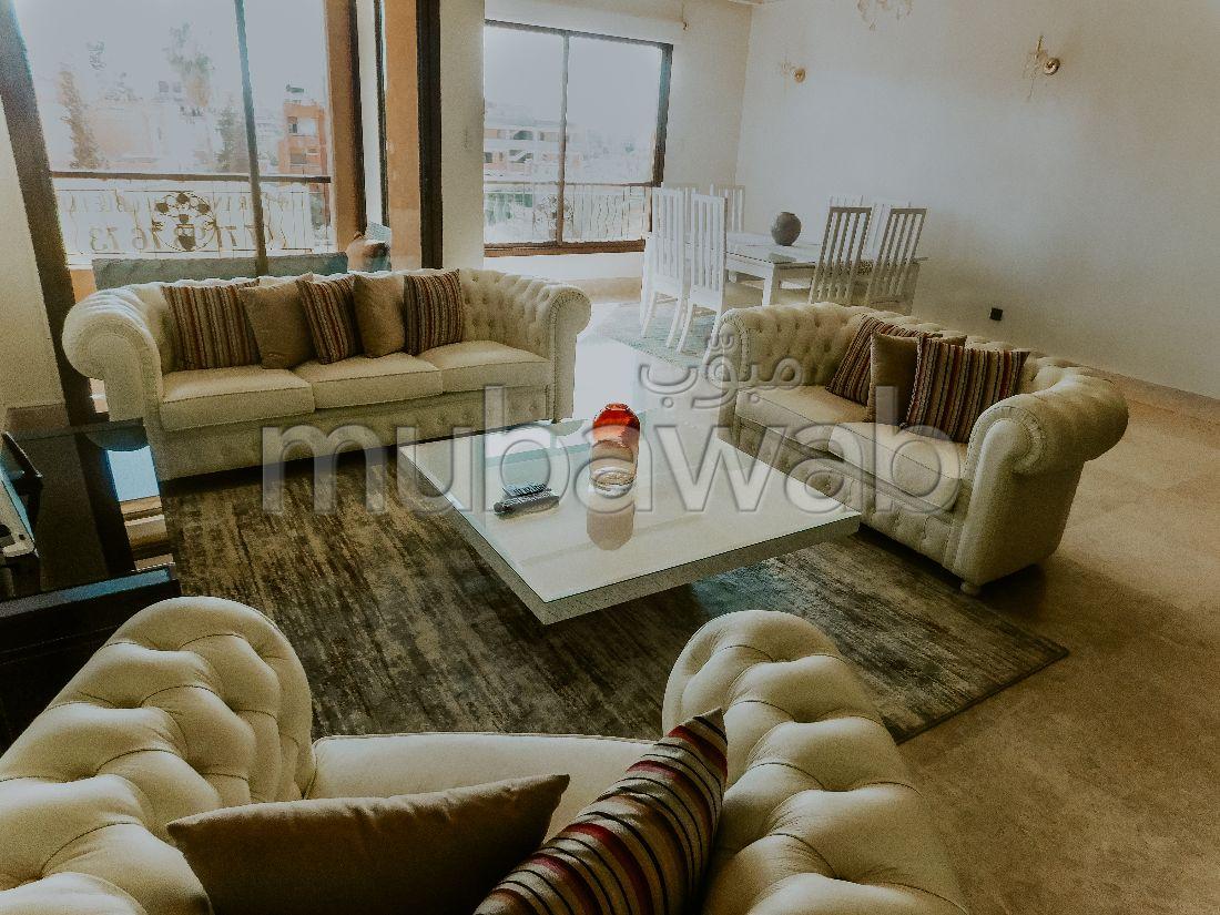 Great apartment for rent in Guéliz. 2 Master bedroom. Furnishings.