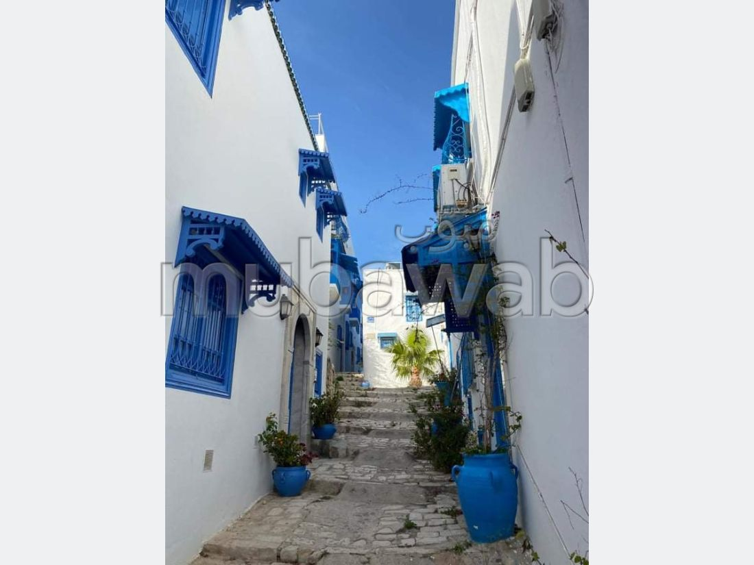 Property for rent in Sidi Bousaid. 4 Small room. Quiet sorroundings with mountain view, central heating.