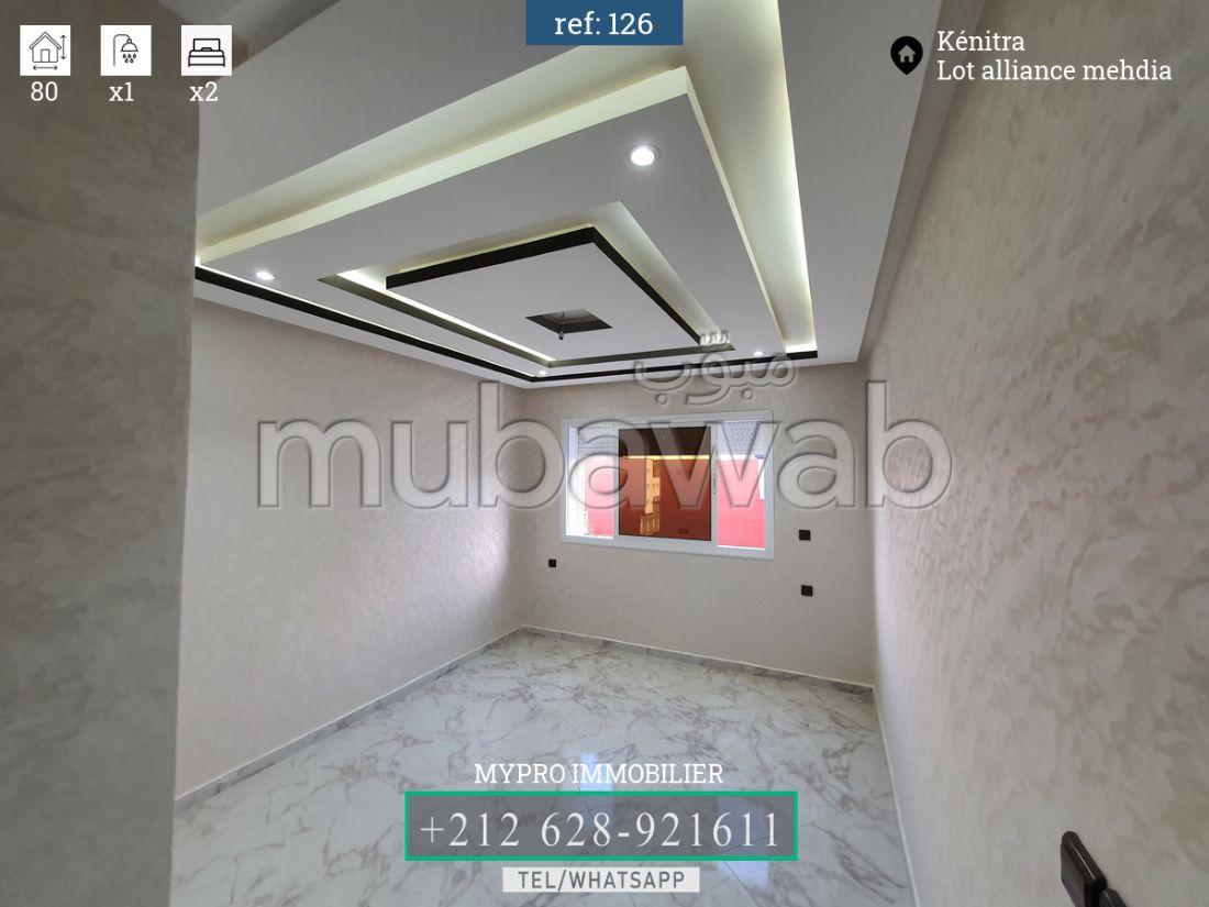شقة رائعة للبيع بالمهدية. 2 غرف. مطبخ مجهز.