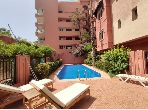 Apartment for rent in Hivernage. 2 Room. Garden and terrace.