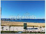 شقق للكراء بحـي الشاطئ. المساحة الإجمالية 70 م². باب متين ، صالة مغربية تقليدية.