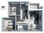 بيع شقة ب حي الوفاء. 2 غرف رائعة. إقامة بالبواب ، ومكيف هوائي.