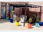 Beau duplex rooftop à louer meublé avec jolie terrasse
