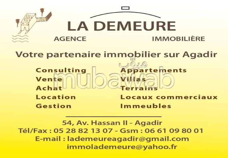LA DEMEURE Agence Immobilière Agadir