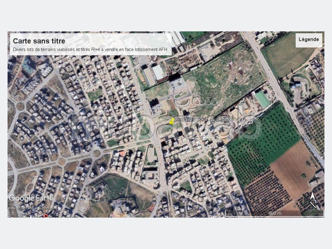 {EN=For sale plots of land with allotments and services R 4, FR=A Vendre terrains lotis et viabilisés R+4}